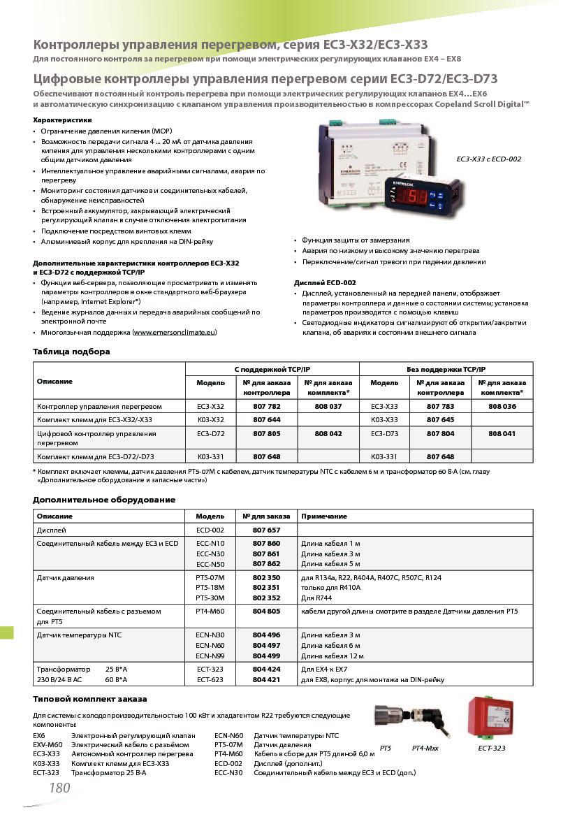 Автономный контроллер перегрева Alco Controls EC3-X33