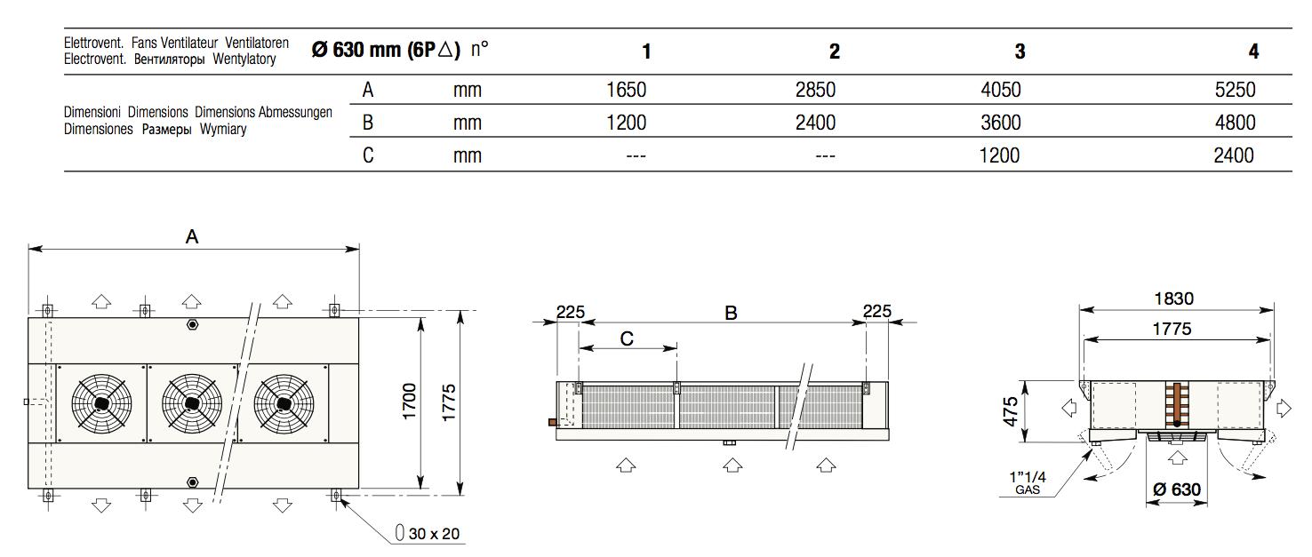 FF630 размеры и подключения