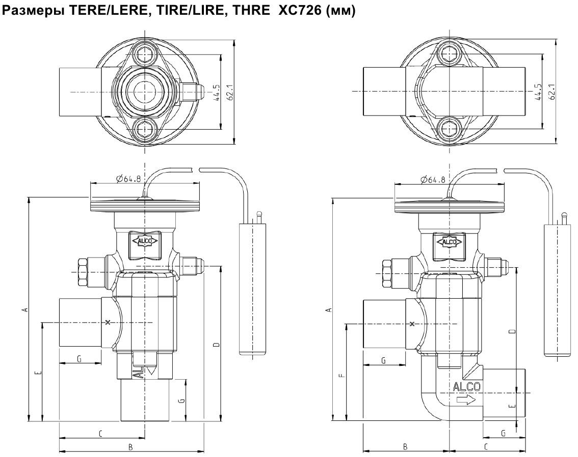 XC726 sizes