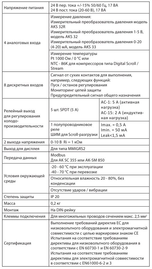 danfoss AK-PC351