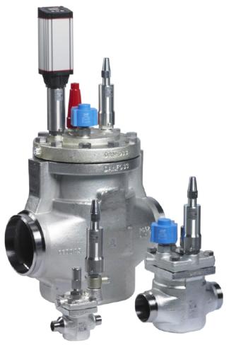 Сервоприводные клапаны с пилотным управлением и пилотные клапаны Danfoss